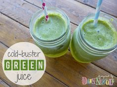 Cold-Buster Green Juice {That actually tastes good!} #juicing #health