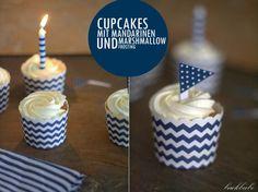 """AHOI - Cupcakes mit Mandarinen und Marshmallow-Frosting ODER """"Wenn Hamburg-Liebe auf's Backen abfärbt"""""""