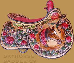 floral saddle
