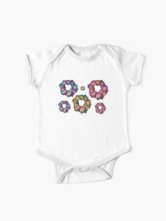"""""""Nebula Scrunchies Pack """" Baby One-Piece by AElenaS Simple Dresses, Scrunchies, Chiffon Tops, V Neck T Shirt, Classic T Shirts, Packing, Short Sleeves, One Piece, Hoodies"""