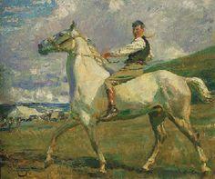 "16/""x16/"" ART Horse Sir Alfred Munnings antique wall decor Girl on Horseback"