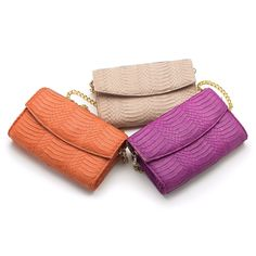 Spring '15 ISLY Handbags Heera #Style with detachable chain #Color #Palette. Available @heidisays @lunaboutiquesf and @twoskirtssf  #eyecandy #armcandy #islyhandbags #pink #orange #nude #clutch #sanfrancisco #love #fashion Info@islyhandbags.com