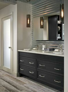 Bathroom with dark cabinets dark gray cabinets in a casual bathroom by kitchen craft cabinetry bathroom . bathroom with dark cabinets Cabinetry, Bathroom Mixer Taps, Wood Bathroom, Grey Bathroom Furniture, Grey Furniture, Dark Cabinets, Kitchen Crafts, Grey Cabinets, Dark Wood Bathroom