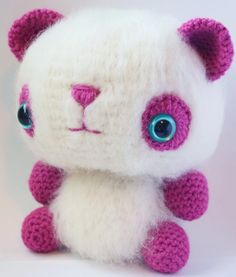 Crochet-Along: Lesson One – The Brushed Amigurumi Technique. Tutorial for creating this adorable bear!