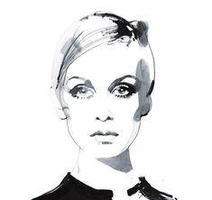 Fashion illustration by David Dawnton.