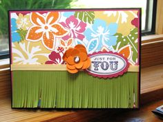 Tropical card by kathleenh - Cards and Paper Crafts at Splitcoaststampers Caribbean Theme Party, Scrapbook Pages, Scrapbook Layouts, Scrapbooking, Paper Crafts, Diy Crafts, Partying Hard, Card Making Inspiration, Diy Wedding