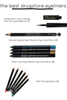 the best drugstore eyeliners. when you lose all of your makeup know where to get replacements fast