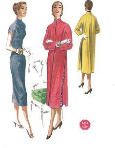 Vintage 1950's Sewing Pattern Mandarin Oriental Wiggle