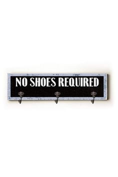 Image of  No Shoes Required Solid Wood Hanger by Artehouse