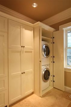 """Excellent """"laundry room stackable small"""" information is offered on our web pages. Have a look and you won Excellent """"laundry room stackable small"""" information is offered on our web pages. Have a look and you wont be sorry you did. Laundry Dryer, Laundry Closet, Laundry Room Organization, Laundry Room Design, Laundry Doors, Laundry In Kitchen, Small Laundry, Hidden Laundry Rooms, Laundry Baskets"""