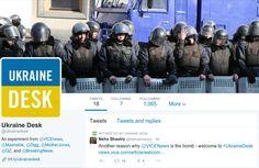 No Twitter, #Ukraine Desk, colaboração noticiosa