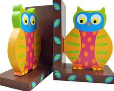 Owls Wooden Bookends - so fun!