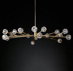 Boule De Cristal Round Chandelier Modern Brass | RH Modern
