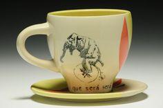 Que Sera Sera Teacup and Saucer Amanda M Barr