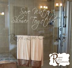 Hey, I found this really awesome Etsy listing at https://www.etsy.com/listing/194639945/bathroom-decal-save-water-shower