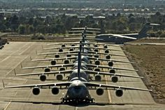 C-17 Globemaster mobilize for mass launch