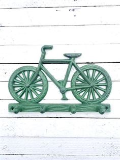 Ornate Cast Iron Bicycle HookBikeIron Wall by TheIronNook on Etsy