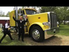 Bride and Groom Leave Wedding Ceremony in a Semi Truck. Shot by http://truevideo.biz