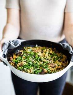 Millet and Mushroom Risotto - see our gluten free grain mushroom risotto recipe! Creamy Mushrooms, Stuffed Mushrooms, How To Cook Millet, Vegan Mushroom Risotto, Gluten Free Grains, Plant Based Protein, Vegan Options, Vegan Butter, Plant Based Recipes