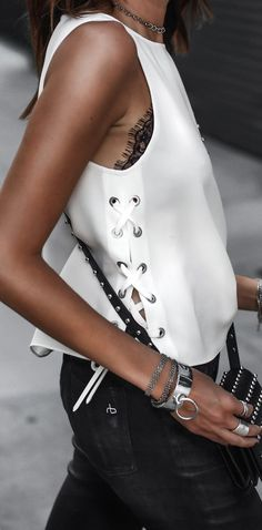 In the Details: The Lace-up Top