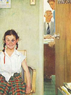 Norman Rockwell Rocks! Love this picture. A lot of ways to interpret this.