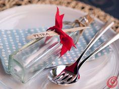 Il messaggio in bottiglia ci porterà notizie … sul menu sulla nostra tavola apparecchiata in stile marinaro!
