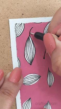Art Drawings Sketches Simple, Pencil Art Drawings, Easy Drawings, Diy Bookmarks, Bookmark Ideas, Gouache Painting, Painting Art, Paintings, Diy Crafts For Gifts