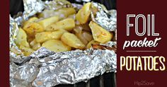 Next time you fire up the BBQ for a summer cook out, consider preparing these easy and delicious roasted potatoes in foil packets!