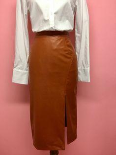 Falda midi de polipiel (2 colores) - OH MY! STORE
