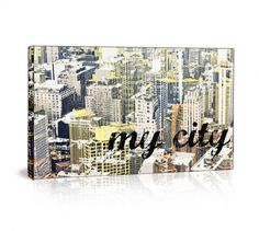 """Matthew Lew Ltd. Edition """"My City"""" giclee print on canvas. Available at: http://www.mbymatthewlew.com/#shop"""