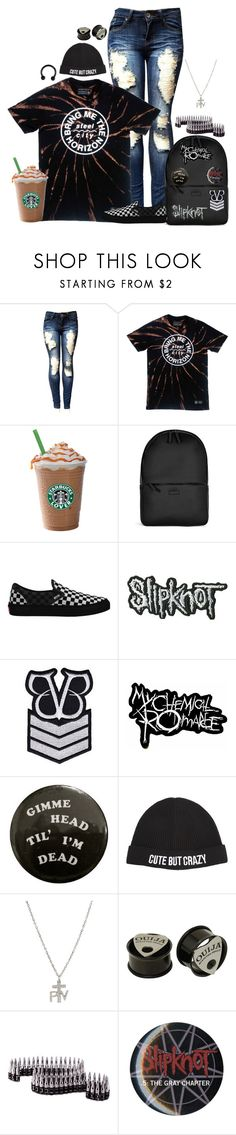 """Untitled #369"" by meow-im-dead-inside ❤ liked on Polyvore featuring Rains, Vans, Chiara Ferragni and Hot Topic"