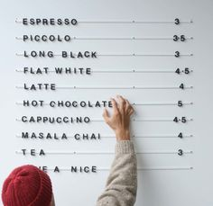 You dont have to own a restaurant or cafe to enjoy the Baker Menu. Designed b - Coffee Set - Ideas of Coffee Set - You dont have to own a restaurant or cafe to enjoy the Baker Menu. Designed by George and Willy the minimalist black and white sets can be Coffee Shop Menu, Coffee Bar Signs, Coffe Bar, Coffee Shops Ideas, Coffee Shop Signage, Coffee Ideas, Espresso Coffee, Coffee Maker, Coffee Shop Interior Design