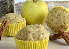 Pancake Recipes 29837 Light apple and poppy seed muffins WW, recipe for tasty very light muffins, without butter or sugar, easy and simple to make Diabetic Snacks, Healthy Snacks For Diabetics, Healthy Muffins, Ww Desserts, Sweets Recipes, Paleo Recipes, Pancake Recipe Without Eggs, Pancake Recipes, Baby Muffins