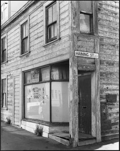 Old shop on the corner of Tory and Haining streets, Wellington - Photograph taken by John Johnstone Old Pictures, Old Photos, The Hutt, Kiwiana, What Is Like, Abandoned Places, New Zealand, Photograph, Corner