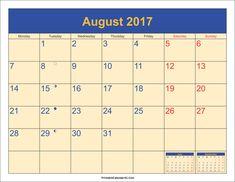 August 2017 Calendar pdf  http://socialebuzz.com/august-2017-calendar-printable-template/