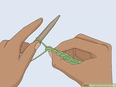 How to Knit Left Handed