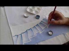 Pintura em Tecido. Aprenda pintar Barrado Falso. - YouTube