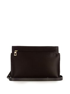 Satin and leather pouch  cb91932a7808d