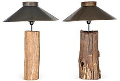 Rustic Aspen Log Lamps, Pair on OneKingsLane.com