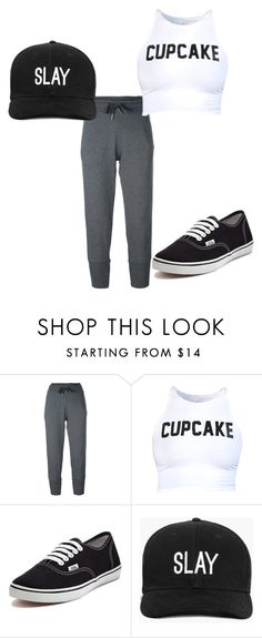 """""""Saturday Chill"""" by mfs0312 on Polyvore featuring adidas, Vans and Boohoo"""