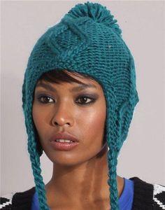 модная вязаная шапка 2012 с аранми зеленая