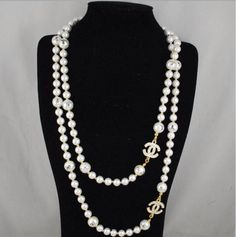 chanel costume jewelry pearl necklaces
