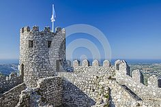 Castle of the Moors stock image. Image of construction - 37768609 Chateaus, Medieval Castle, Santa Maria, Heritage Site, Lisbon, Portuguese, Castles, Europe, Construction