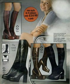 Thigh High Boots Heels, Knee Boots, Heeled Boots, High Heels, Sexy Boots, Cool Boots, Vintage Boots, Vintage 70s, Vintage Style
