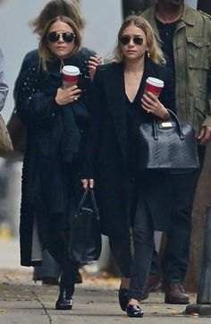 They've been perfecting their particular brand of nonchalant cool for some time now, so you can trust Ashley and Mary-Kate Olsen to make going on a coffee run look stylish.