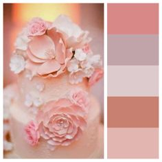Color palette macoron delights mocha pale pink for Dusty rose wall color