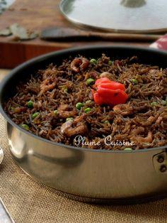 Riz Djon-Djon Haïtien - Un riz original et très savoureux, à la couleur noir qui est due aux champignons Djon-Djon cultivés en Haïti.