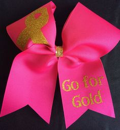 "www.bringitbows.com I received a beautiful message from a fellow Momma and since it is Pediatric Cancer Awareness Month, I have one more bow to add this month. ""The Mikaela Bow!"" Here is what Mom wrote: My youngest of four Mikaela has relapsed with Neuroblastoma in the frontal/left of the brain. We arrived in New York on May 3 and we've been here ever since as Mikaela is receiving treatment at MSKCC. Mikaela was first diagnosed on April 30, 2012 when she was 2 years old."