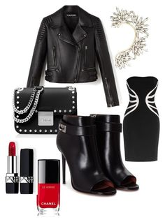 """Classic black"" by moniik82 on Polyvore featuring BCBGMAXAZRIA, Leka, MICHAEL Michael Kors, Givenchy, Chanel and Christian Dior"
