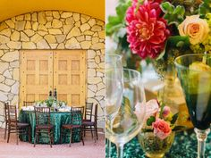Glam Green and Gold New Years Wedding - Bella Paris Designs
